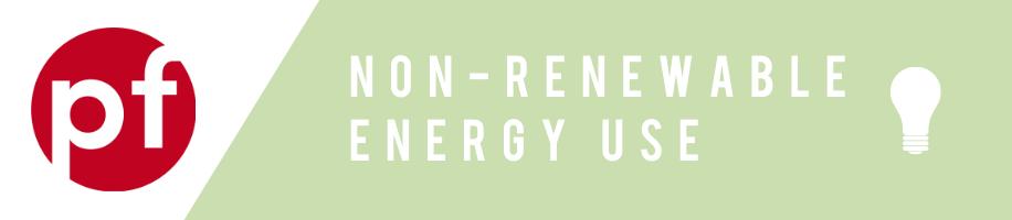 Non-renewable energy use